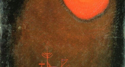 Kandinsky, Red Sun and Ship (1925)